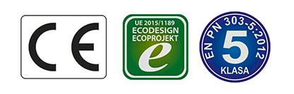 kotły z certyfikatami 5 klasy, ecodesign ce